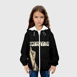 Куртка с капюшоном детская Scorpions Rock цвета 3D-белый — фото 2