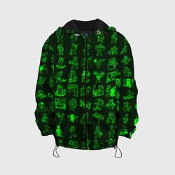 Детская 3D-куртка с капюшоном с принтом Персонажи Fallout, цвет: 3D-черный, артикул: 10136370105458 — фото 1