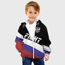 Куртка с капюшоном детская Fight Russia цвета 3D-белый — фото 2