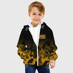 Куртка с капюшоном детская PUBG: Military Honeycomb цвета 3D-белый — фото 2