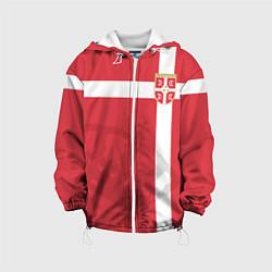 Куртка с капюшоном детская Сборная Сербии цвета 3D-белый — фото 1