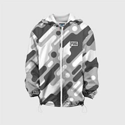 Куртка с капюшоном детская PUBG: Grey Gamer цвета 3D-белый — фото 1
