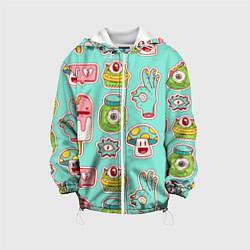 Куртка 3D с капюшоном для ребенка Яркие монстрики - фото 1