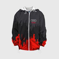 Детская 3D-куртка с капюшоном с принтом Audi: Tricolor, цвет: 3D-белый, артикул: 10144295105458 — фото 1