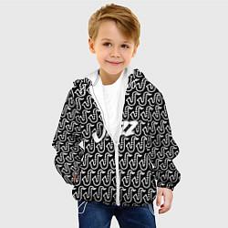 Детская 3D-куртка с капюшоном с принтом Jazz, цвет: 3D-белый, артикул: 10144685705458 — фото 2
