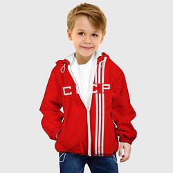 Детская 3D-куртка с капюшоном с принтом Cборная СССР, цвет: 3D-белый, артикул: 10146987705458 — фото 2