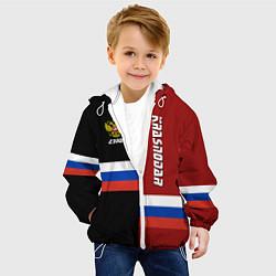 Куртка с капюшоном детская Krasnodar, Russia цвета 3D-белый — фото 2