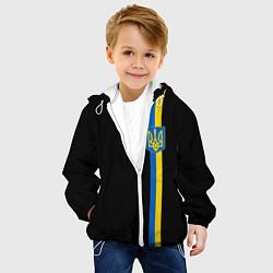 Куртка с капюшоном детская Украина цвета 3D-белый — фото 2
