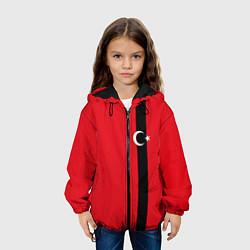 Куртка с капюшоном детская Турция цвета 3D-черный — фото 2