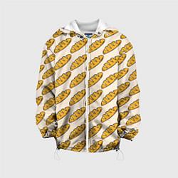 Куртка с капюшоном детская Стиль багета цвета 3D-белый — фото 1