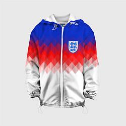 Куртка с капюшоном детская Сборная Англии: Тренировочная ЧМ-2018 цвета 3D-белый — фото 1