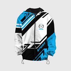 Детская 3D-куртка с капюшоном с принтом Mazda: Techno Sport, цвет: 3D-черный, артикул: 10152657105458 — фото 1