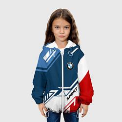 Куртка с капюшоном детская BMW SPORT цвета 3D-белый — фото 2