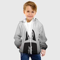 Детская 3D-куртка с капюшоном с принтом Унесенные призраками, цвет: 3D-белый, артикул: 10155871505458 — фото 2