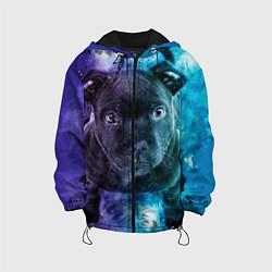 Куртка с капюшоном детская Милый пёс цвета 3D-черный — фото 1