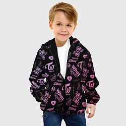 Детская 3D-куртка с капюшоном с принтом TWICE, цвет: 3D-черный, артикул: 10193223705458 — фото 2