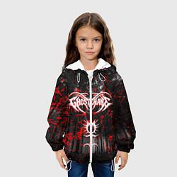 Куртка с капюшоном детская GHOSTEMANE цвета 3D-белый — фото 2