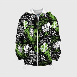 Детская 3D-куртка с капюшоном с принтом Villains, цвет: 3D-белый, артикул: 10194631705458 — фото 1
