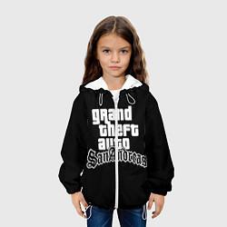Детская 3D-куртка с капюшоном с принтом GTA San Andreas, цвет: 3D-белый, артикул: 10200418105458 — фото 2