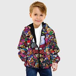 Детская 3D-куртка с капюшоном с принтом BRAWL STARS CROW, цвет: 3D-черный, артикул: 10201248705458 — фото 2