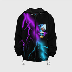Куртка с капюшоном детская Brawl Stars LEON SHARK цвета 3D-черный — фото 1