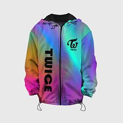 Детская 3D-куртка с капюшоном с принтом TWICE, цвет: 3D-черный, артикул: 10201492905458 — фото 1