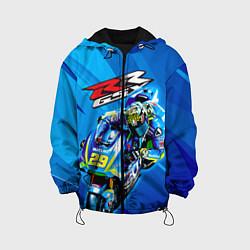 Куртка с капюшоном детская Suzuki MotoGP цвета 3D-черный — фото 1