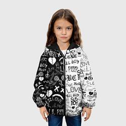 Детская 3D-куртка с капюшоном с принтом LIL PEEP LOGOBOMBING, цвет: 3D-черный, артикул: 10204407705458 — фото 2