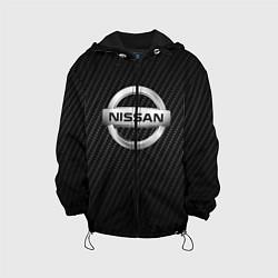 Детская 3D-куртка с капюшоном с принтом NISSAN, цвет: 3D-черный, артикул: 10208568705458 — фото 1