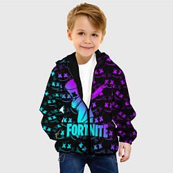Куртка с капюшоном детская FORTNITE X MARSHMELLO цвета 3D-черный — фото 2