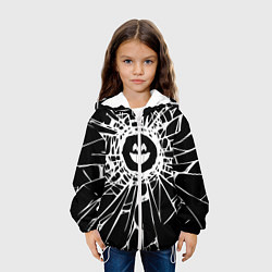 Детская 3D-куртка с капюшоном с принтом BLACK MIRROR, цвет: 3D-белый, артикул: 10210868105458 — фото 2