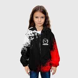 Детская 3D-куртка с капюшоном с принтом MAZDA, цвет: 3D-черный, артикул: 10211866305458 — фото 2