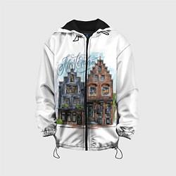 Куртка с капюшоном детская Амстердам цвета 3D-черный — фото 1