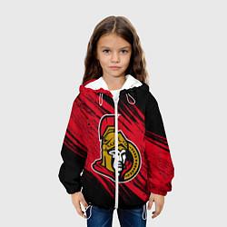 Детская 3D-куртка с капюшоном с принтом Оттава Сенаторз, цвет: 3D-белый, артикул: 10270772305458 — фото 2