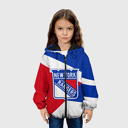 Детская 3D-куртка с капюшоном с принтом Нью-Йорк Рейнджерс, цвет: 3D-черный, артикул: 10271425705458 — фото 2
