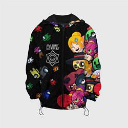 Куртка с капюшоном детская Among Stars цвета 3D-черный — фото 1