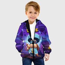 Куртка с капюшоном детская Генерал Гавс brawl stars цвета 3D-черный — фото 2