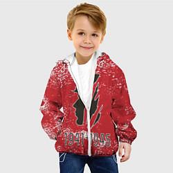 Детская 3D-куртка с капюшоном с принтом 1941-1945, цвет: 3D-белый, артикул: 10287889105458 — фото 2