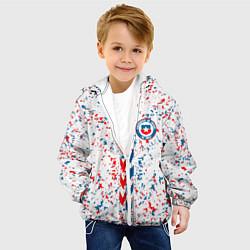 Куртка с капюшоном детская Сборная Чили цвета 3D-белый — фото 2