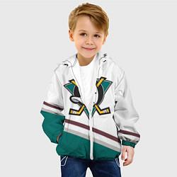Куртка с капюшоном детская Anaheim Ducks Selanne цвета 3D-белый — фото 2