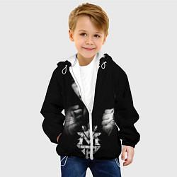 Детская 3D-куртка с капюшоном с принтом Менни Пакьяо, цвет: 3D-белый, артикул: 10071267205458 — фото 2