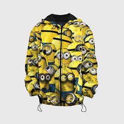 Куртка с капюшоном детская Minions цвета 3D-черный — фото 1