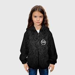 Детская 3D-куртка с капюшоном с принтом Nissan, цвет: 3D-черный, артикул: 10075416505458 — фото 2