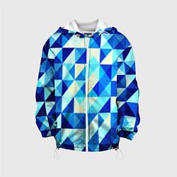 Детская куртка Синяя геометрия