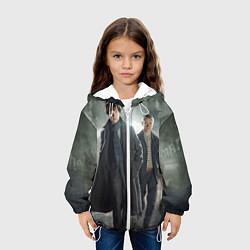 Детская 3D-куртка с капюшоном с принтом Шерлок и Доктор, цвет: 3D-белый, артикул: 10084293805458 — фото 2