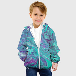 Куртка с капюшоном детская Смесь красок цвета 3D-белый — фото 2