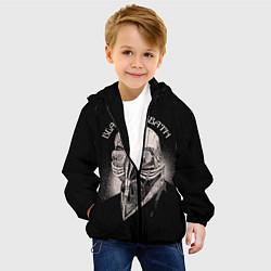 Детская 3D-куртка с капюшоном с принтом Black Sabbath: Acid Cosmic, цвет: 3D-черный, артикул: 10087840405458 — фото 2