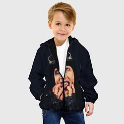 Куртка с капюшоном детская Mаrilyn Manson: Biker цвета 3D-черный — фото 2
