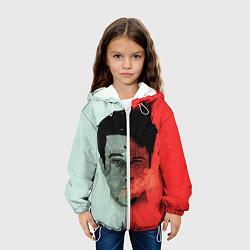 Куртка с капюшоном детская Norton: White & Red цвета 3D-белый — фото 2