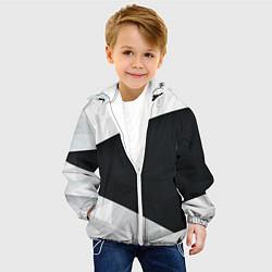 Куртка с капюшоном детская Чёрно-белый цвета 3D-белый — фото 2
